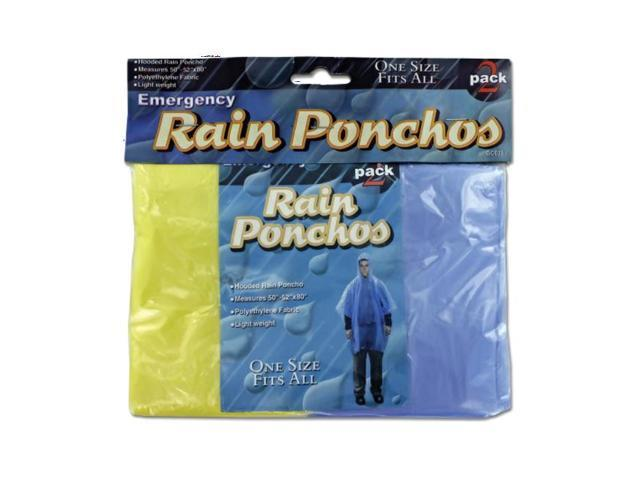Bulk Buys Kids Adult Emergency Lightweight Portable Weather Protected Rain Ponchos Rain Wear Pack 24