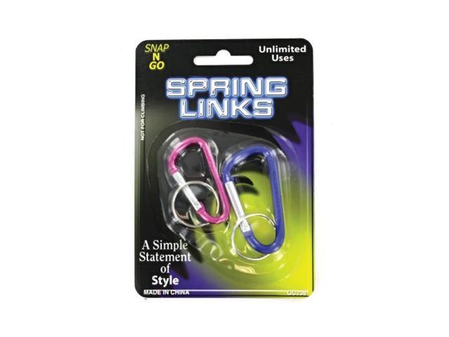 Bulk Buys Multiuse Hanging Spring Links Snap Clip Safety Hook Pack 24