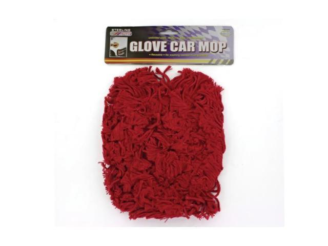 sterling Black Nylon Edged Vinyl Automobile Glove Car Red Rug Yarn Cleaner Mop Pack 24