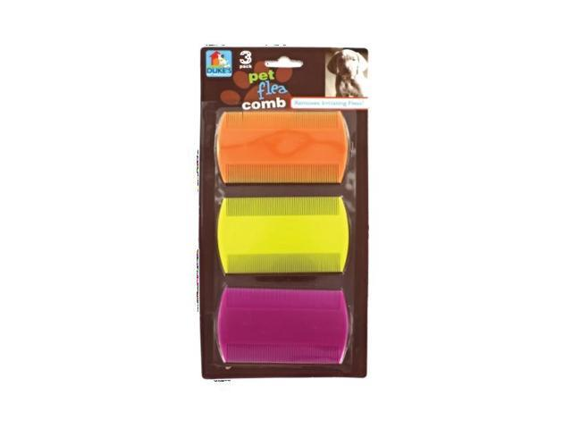 Dukes Home Indoor Outdoor Portable Pet Dog Cat Plastic Flea Finders Prevention Combs Case Pack 24
