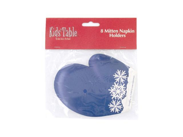 Bulk Buys Holiday Fun Paty Table kids Adult Mitten Napkin Holders Decor Pack of 8 Case 24