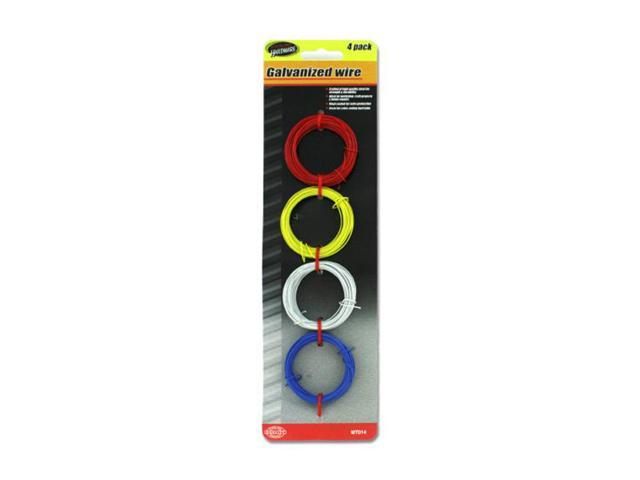 Sterling Set Of 4 Soft Flexible Home Repair Colored Galvanized Wire Pack 24 Pack