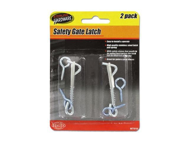 Sterling Set Of 2 Home Door Guard Lock Hardware Safety Gate Latch 24 Pack