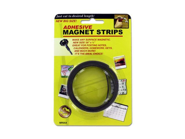 Sterling Home Office Self Adhesive Backed Flexible Magnet Tape Strip Roll 24 Pack