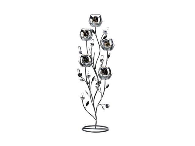 Koehler Indoor Home Decor Gift Accent Silver Tulip Tree Candelabra Stand