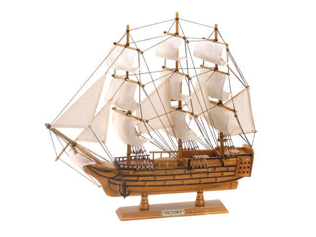 Koehler Indoor Home Tabletop Decor Wooden Cotton Hms Victory Ship Model