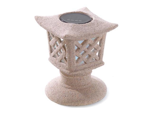 Koehler Home Garden Decor Outdoor Patio Porch Ceramic Ancient Solar Pagoda Light