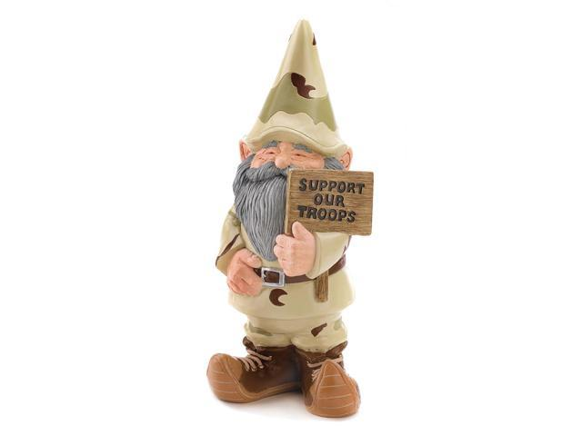 Koehler Indoor Outdoor Home Decorative Support Our Troops Gnome Figurine