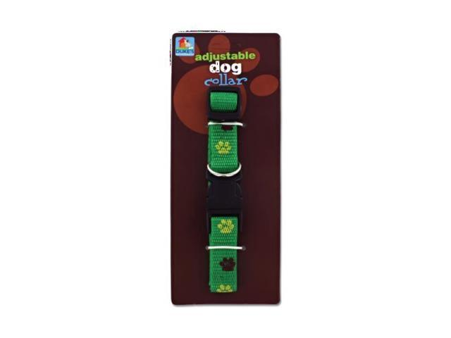 Dukes Home Indoor Outdoor Pet Dog Doggy collar with paw print Design Pack 24