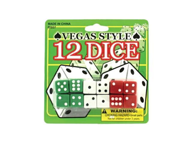 Bulk Buys Home Indoor kids Night Fun Vegas Style Playing Card With Dice Pack 24