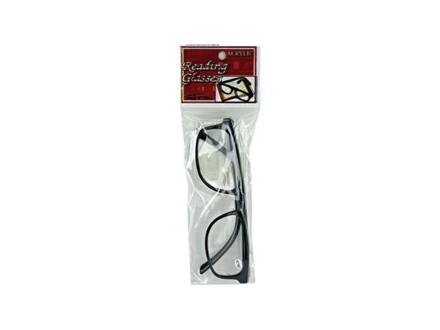 Bulk Buys Adults Assorted Power Plastic Acrylic Magnivision Optical Reading Glasses Pack 24