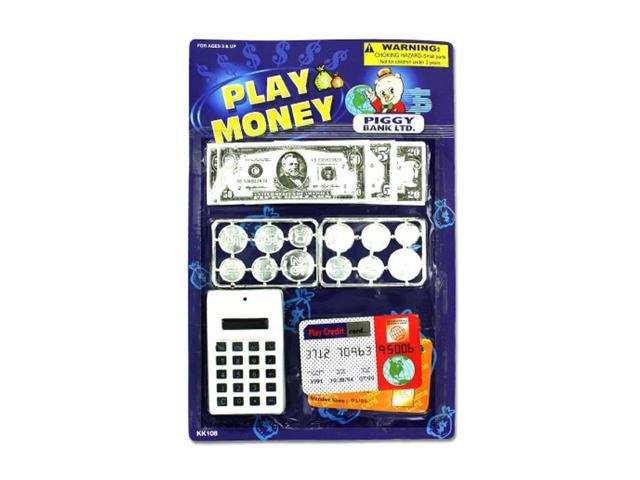 Bulk Buys Kids Educational Learning Toy Fun Paper Play Money Set Plastic 24 Pack