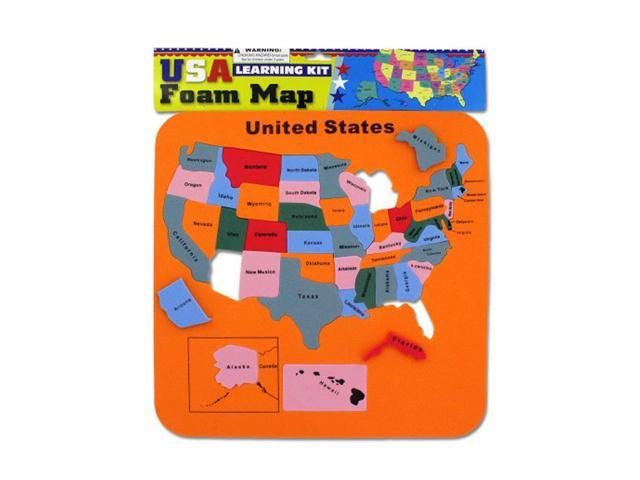 Bulk Buys Kids Children Educational Learning Toy USA Foam Map Puzzle Set 24 Pack