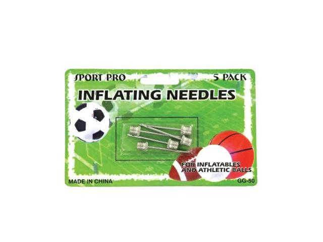 Bulk Buys Portable Outdoor Football Soccer Sports Ball Pump Metal Sturdy Inflating needles Pack 24