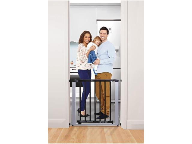 Dream Baby Home Indoor Windsor Safety Baby Infant Dog Pet Gate Silver With Dark Wood