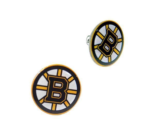 NHL Boston Bruins Post Sports Team Logo Ladies Women Girls Stud Earring Charm Gift Set