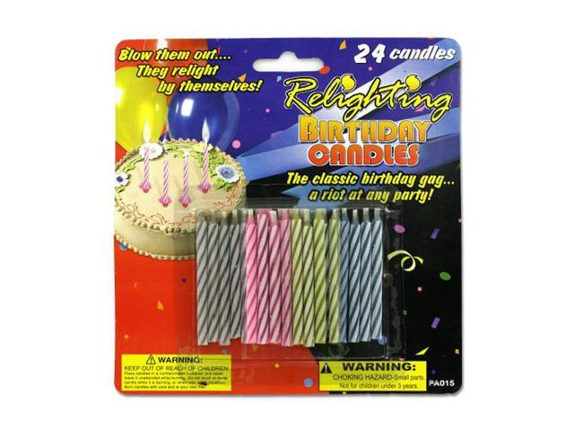 Bulk Buys Home Celebration Decorative Relighting Birthday Candles 24 Pack