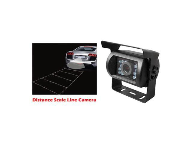 Pyle Universal Mount Infrared Adjustable Angle Rear View Camera with Anti-glare Shield & Distance Scale Line