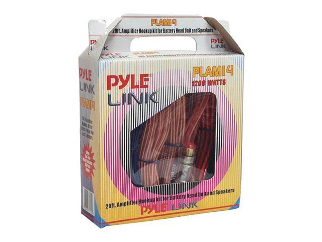 Pyle 20ft 8 Gauge 1000 Watts Amplifier Hookup For Battery Head Unit & Speakers Installation Kit