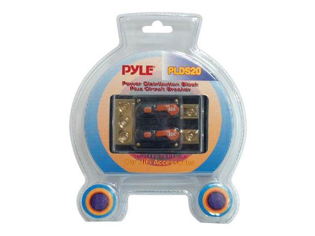 Pyle Dual 40 Amp In-Line Circuit Breaker/ Power distribution block