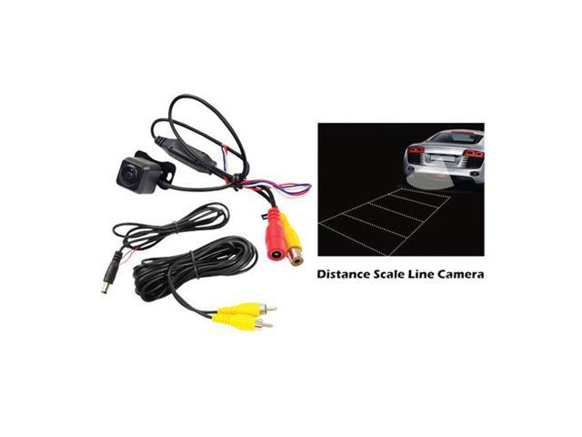Pyle Universal Mount Optional Front View & Rear View Backup Color CMD Camera Built-In Distance Scale Line