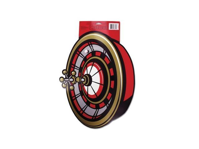 Bulk buys Roulette wheel Decoration Birthday Party cardboard cutout 17 x 13 inch pack of 36