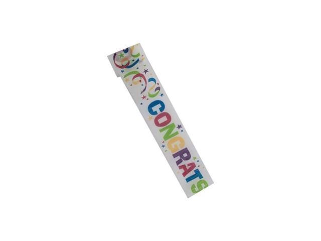Bulk buys Kids Home Indoor Outdoor Congrats 2.5 inch x 30 Foot Crepe Streamer pack of 18
