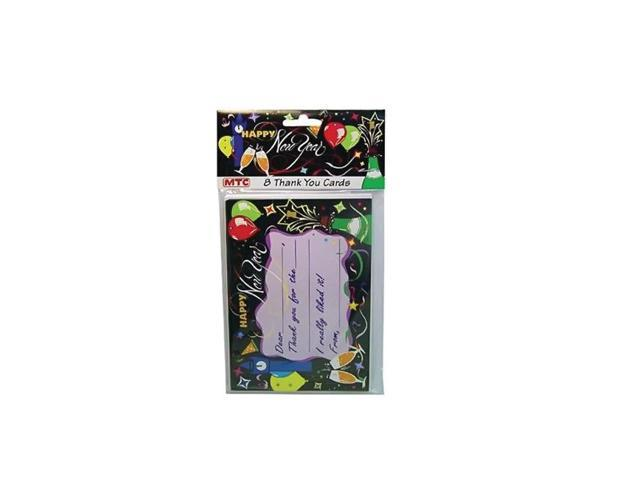 Bulk buys Newyear 8 Style Thankyou With Envelopes Cards pf2 - pack of 24