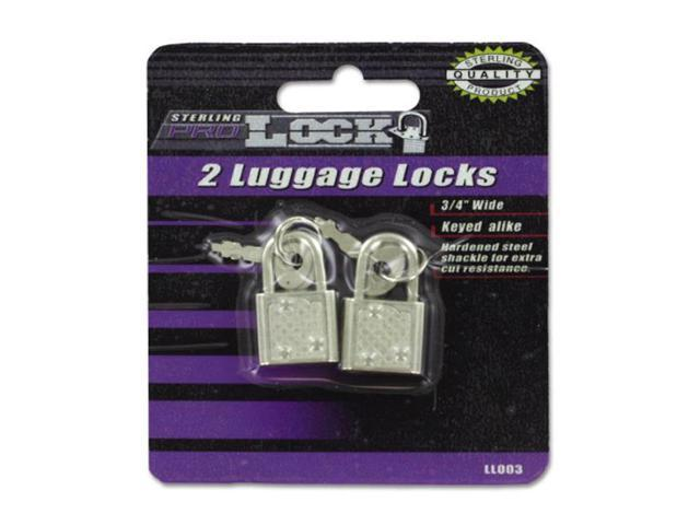 Sterling Travelling Bag Carrier Suitcase Luggage Locks With Keys Silver 24 Pack