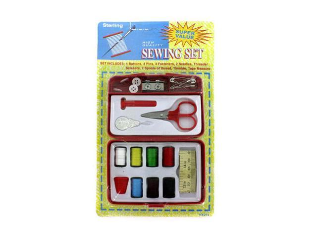 Sterling Home Travel Emergency Use Beginner Compact Hand Sewing Kit With Accessories 24 Pack