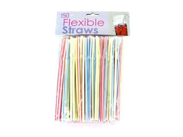 Bulk Buys Home Outdoor Parties Picnic Multicolor Flexible Drinking Straws Plastic 25 Pack