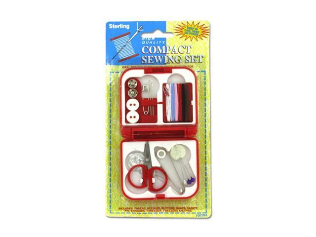 Sterling Portable Emergency Use Beginner Compact Hand Sewing Kit With Accessories 24 Pack