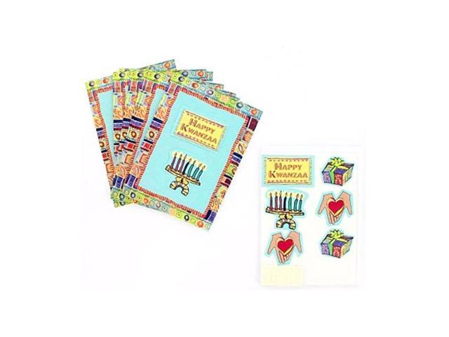 Bulk Buys Decorate Kwanzaa Stationery Greeting Note Cards With Envelopes Pack of 8 Case 25
