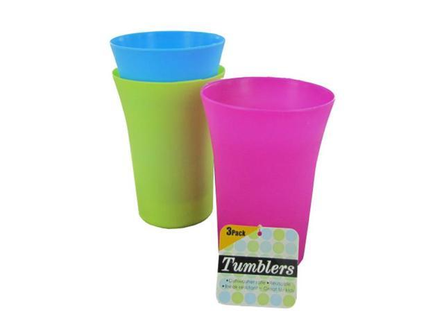 Home Kitchen Dinning Indoor Household Accessories Colorful Tumblers, Pack Of 3 Case 24