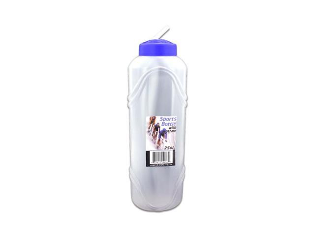 Home Kitchen Dinning Indoor Household Accessories 25 Oz. Water Bottle With Straw 24 Pack
