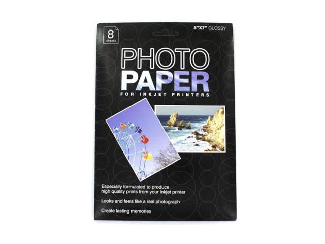 Home Indoor School Office Accessories 5 X 7 Photo Paper For Inkjet Printers, Package Of 8 Sheets 24 Pack