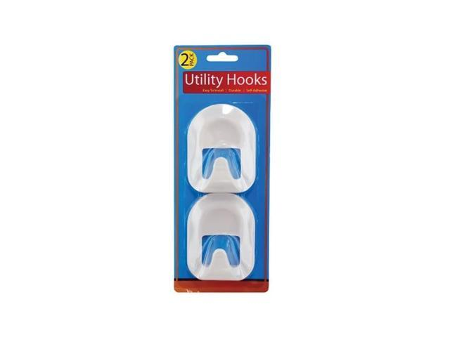 Bulkbuys Home Indoor 2 pack super Wall Mount utility hooks pack of 12
