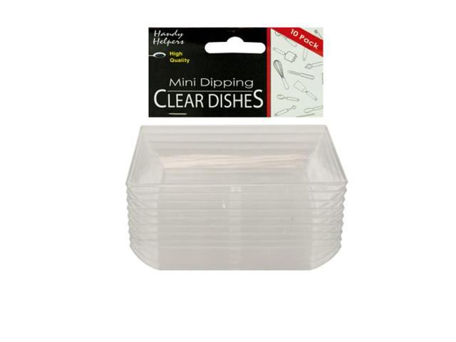 Home Indoor Outdoor Buffet Food Table Mini Dipping Clear Dishes Plastic Tray Pack of 12