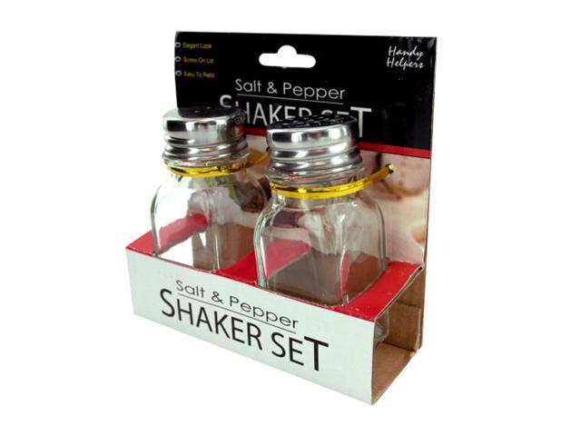 Home Indoor Kitchen Dining Transparent Squared Salt And Pepper Shaker Set Pack of 12
