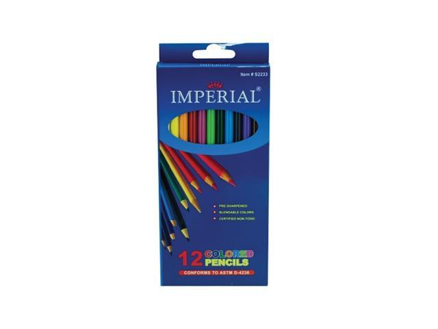 Bulk Buys Home School Assorted Kids Children 12 Pack Colored Woodcase Pencils Pack Of 12