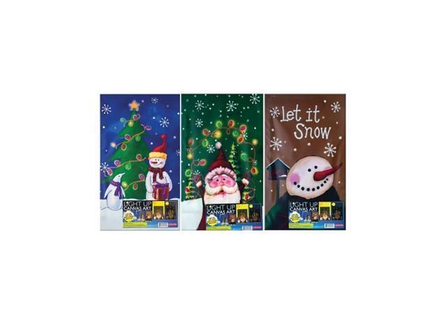 Bulk Buys Home Indoor Outdoor Decorative Flashing Light-Up Christmas Hanging Wall Door Art Pack Of 1