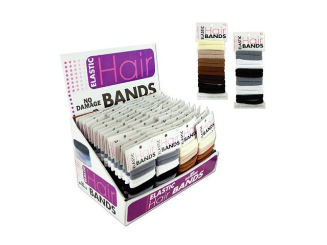 Hair Care Elastic Hair Style Bands Ponytail Holder Display Pack of 60