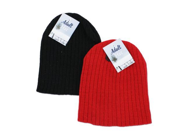 Adult Winter Protective Comfortable Apparel Warm Cozy Knit Cap Pack of 24 Acrylic.