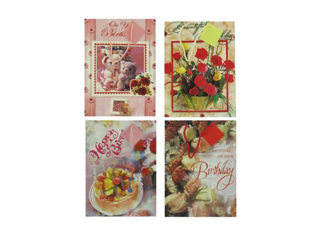 Happy Birthday Gift Wrapping Greeting Cards Bags Assorted Designs Card stock Pack of 24
