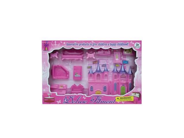Bulk Buys Kids Children Playing Kits Beauty Furntre With Castle Set Pack Of 4