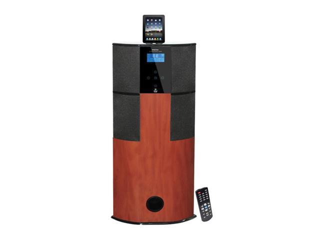 Pyle Home 600 Watt Digital 2. 1 Channel Home Theater Tower With Docking Station for iPod iPhone iPad Cherry Wood Color