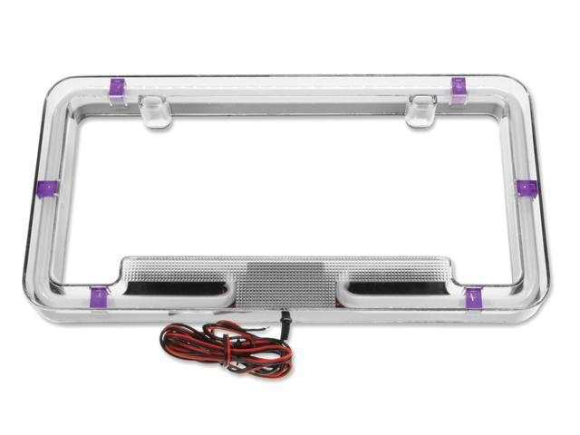 Plasmaglow Neon License Plate Frame - Purple
