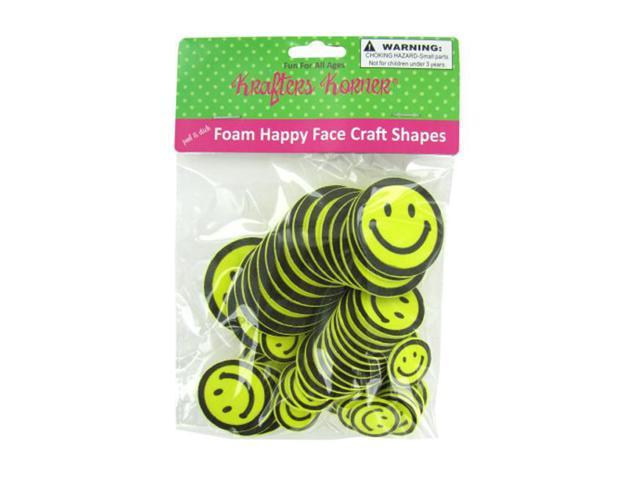 Foam happy face craft shapes 12 Pack