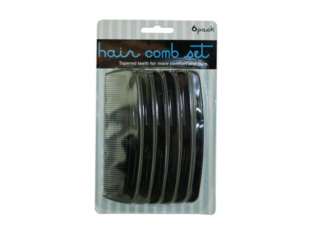 Bulk Buys Barber Hair Salon Styling Comb Value Pack Black Plastic 24 Pack
