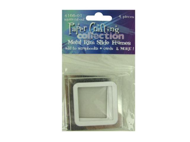 Bulk Buys Scrapbooking Metal Rim Slide Picture Frames Each Pack 4 Pack 25